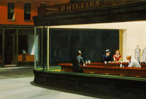 Happy birthday edward hopper dr bristol 39 s prescription for Diner painting