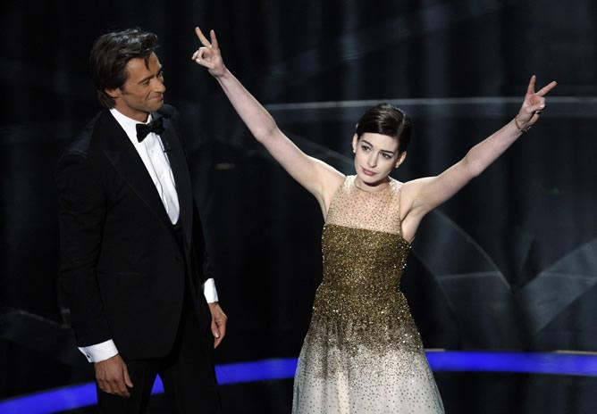 anne hathaway oscars hugh jackman. …and now, The Oscars